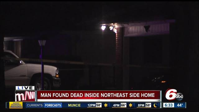 Man found dead inside Indianapolis house- homicide detectives investigating