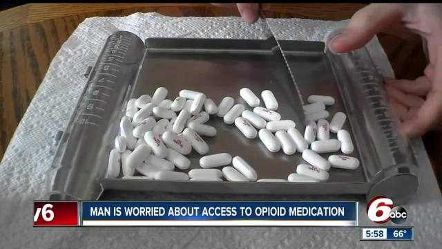 Man worried about access to opioid medication