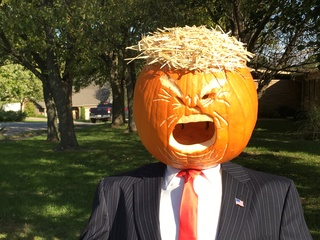 PHOTOS: Trumpkin scarecrow in Carmel