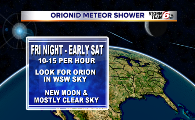 Look up to see the Orionids meteor shower tonight