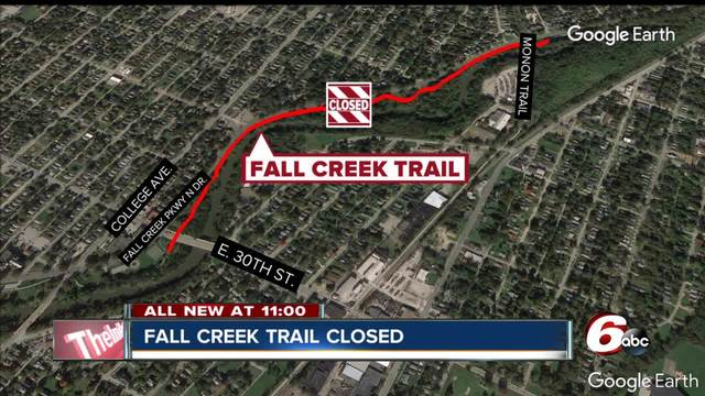 Portion of Fall Creek Trail closed while crews work on sewer project