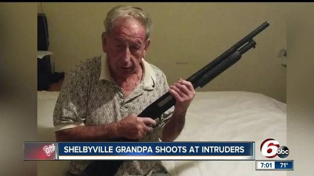 84-year-old grandfather fires back at masked men breaking into his…
