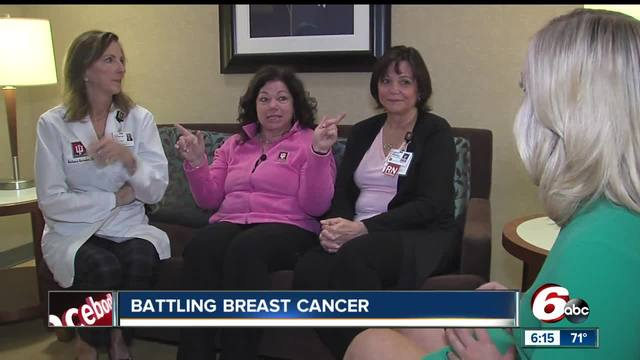 Three co-workers in the breast cancer clinic at IU Health North share a bond