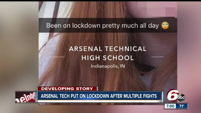 Multiple fights at Arsenal Tech cause campus lock down in Indianapolis