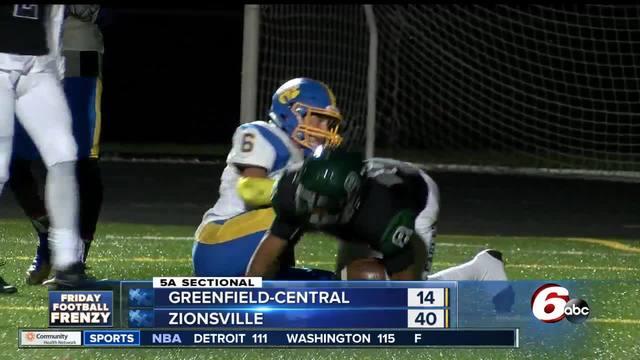 HIGHLIGHTS- Zionsville 40- Greenfield 14