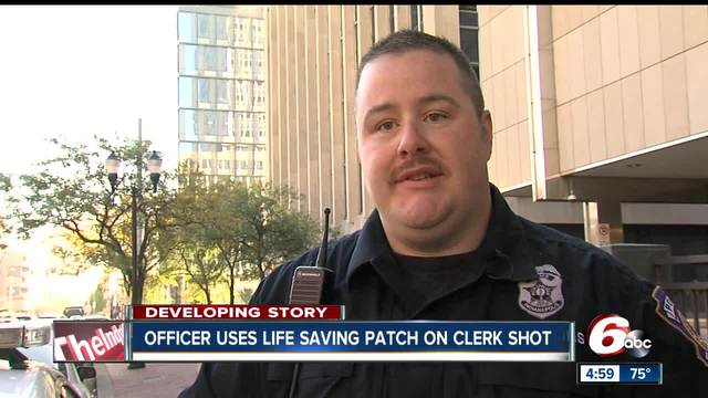 Officer uses life saving patch on Family Dollar store clerk shot during…