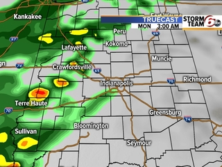 TIMELINE: Cold brings rain to central Indiana