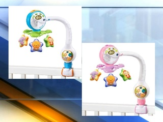 Popular baby travel mobiles being recalled