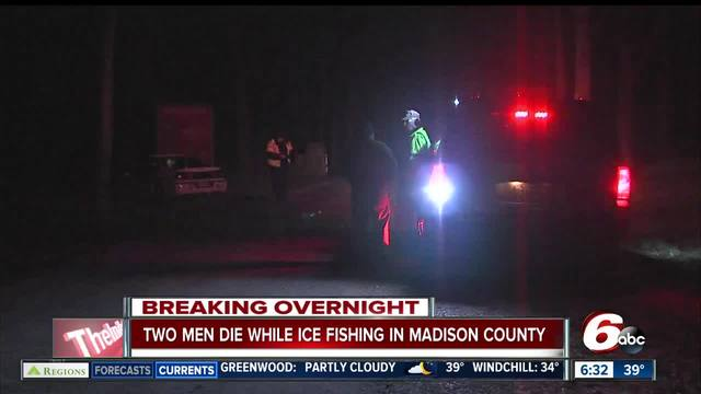 Authorities: Bodies of 2 ice fishermen found in Madison County pond