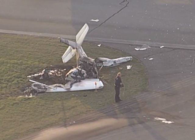 Coroner: 2 dead after 2 planes collide at Marion Municipal Airport