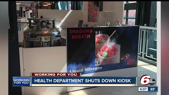 woman says liquid nitrogen infused cereal bought at mall kiosk made