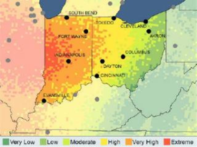 weather data shows tornado frequency elevated outside traditional states