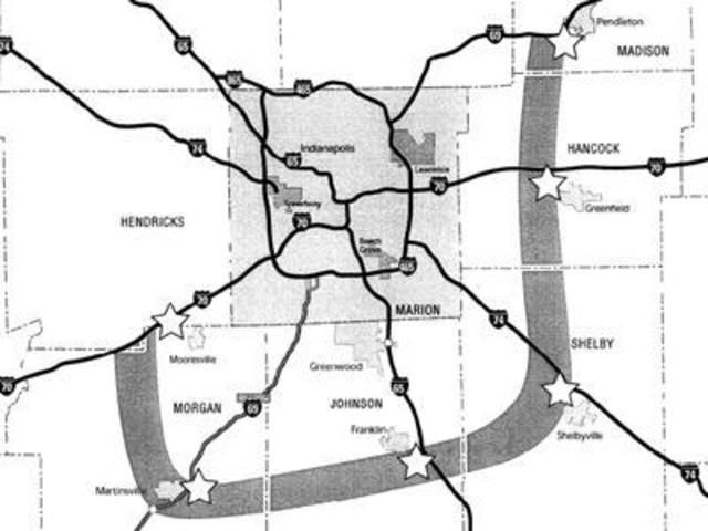 I69 Indiana Map.Daniels Proposes Tollway Bypass Of Indy Dropping I 69 Toll Plan