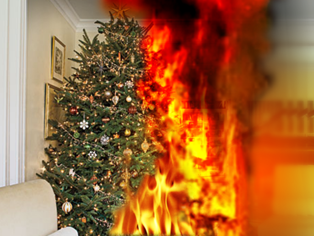 Fire Marshal Recommends Care With Christmas Trees TheIndyChannel  - Christmas Trees On Fire