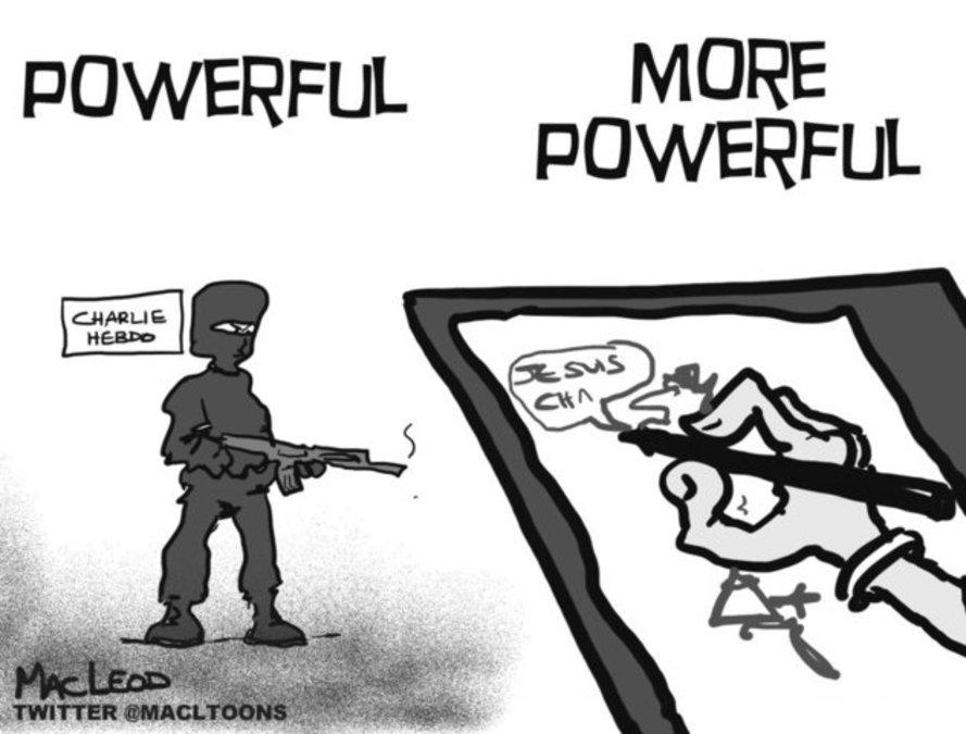 Evansville editorial cartoon strikes chord round world ...
