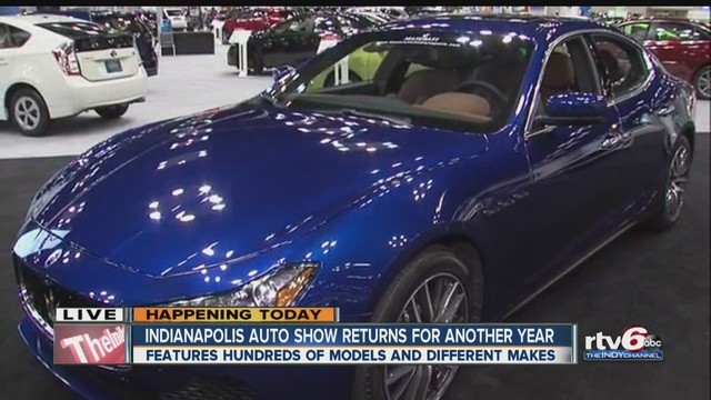 Indy Auto Show Returns For Another Year TheIndyChannelcom - Car show in indianapolis this weekend