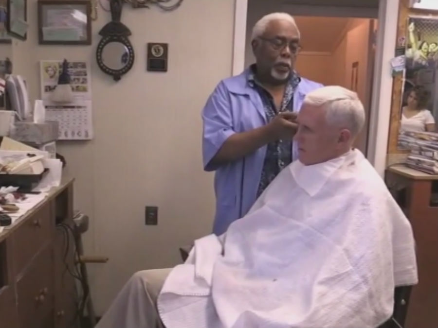 Ind Gov Mike Pence Gets 20 Haircut In Pa Theindychannel