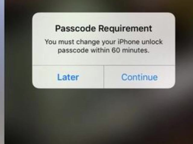 iphone passcode requirement