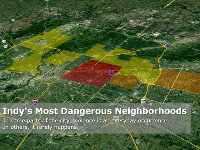 map indy s most dangerous neighborhoods 2017 theindychannel com indianapolis in