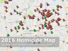 MAP: 2016 Indianapolis homicides