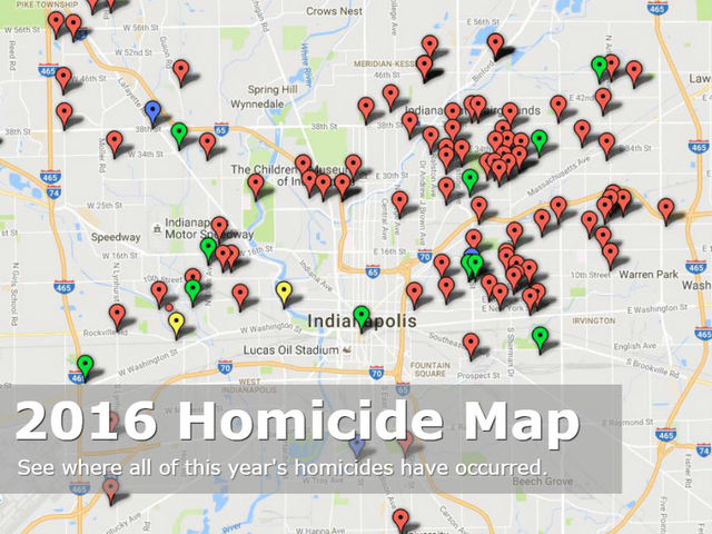 MAP 2016 Indianapolis homicides TheIndyChannelcom Indianapolis IN