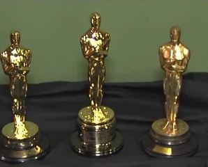 Five Oscars are on display at IU's Lilly Library