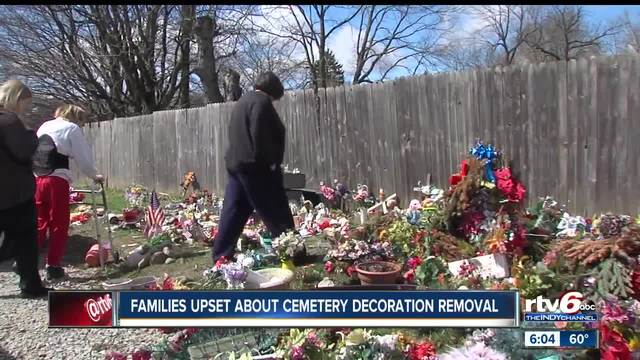 families upset after muncie cemetery removes decorations from graves without notice