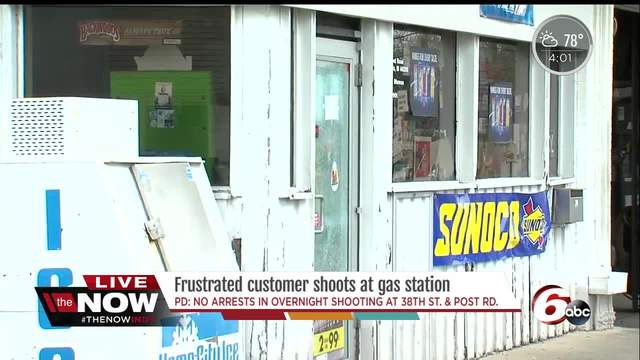 Man opens fire outside gas station on Indianapolisu0027 northeast side bullet shatters front door & Man opens fire outside gas station on Indianapolisu0027 northeast side ...