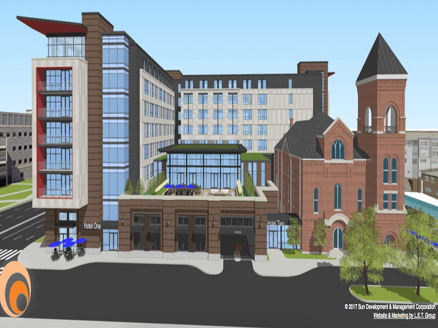 Developers Propose New Hotels Near Downtown Indy C To Preserve Bethel Ame Church Building