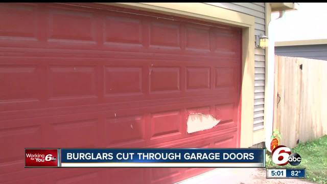 Thieves Cut Garage Doors To Get Into Homes On Indyu0027s Northeast Side    TheIndyChannel.com Indianapolis, IN