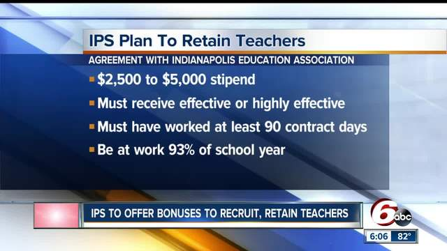 Call 6 Ips Plans Bonuses For High School Teachers Theindychannel