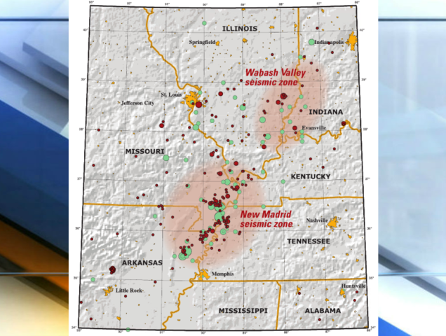 Indiana sits near two major fault lines