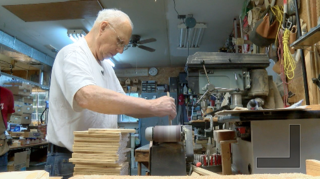 81-year-old creates wood toys for Riley patients