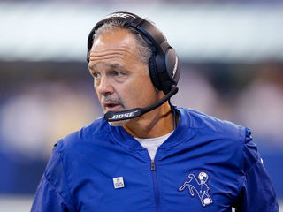Colts' Pagano discusses weather, Groundhog Day