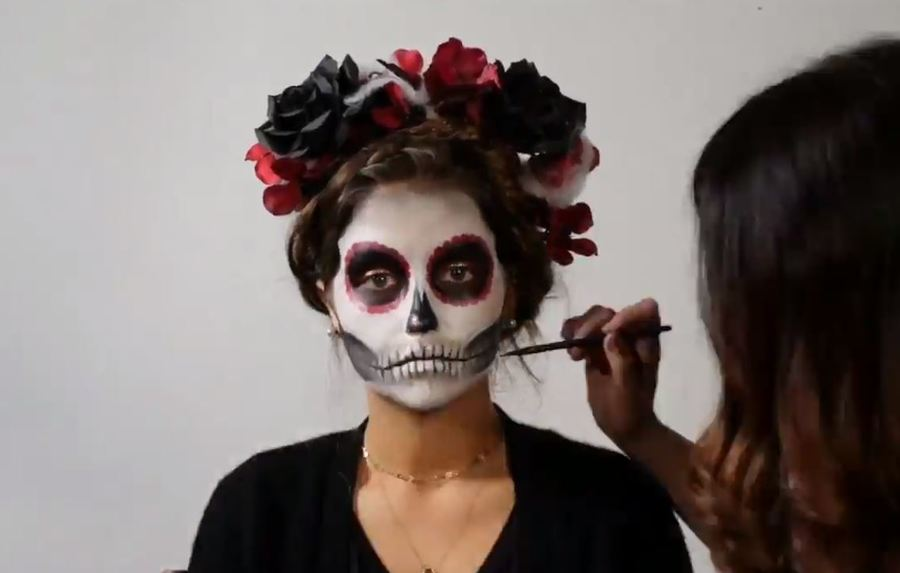 Timelapse Full Skeleton Makeup Makeover For Halloween Theindychannel Com Indianapolis In