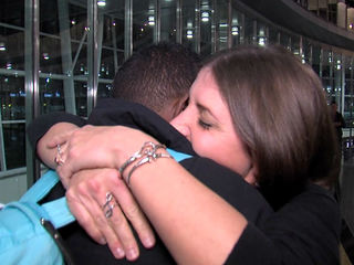 WATCH: Hurricane victims' emotional reunion