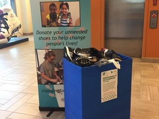 YMCA collecting shoes for hurricane victims