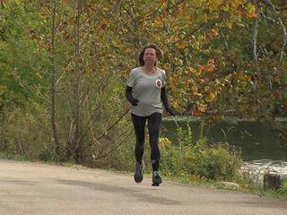 Woman running in marathon for overdosed son