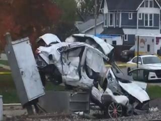 Elderly woman dies after car, train collide