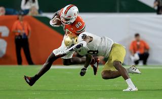 Notre Dame falls to Miami, 41-8