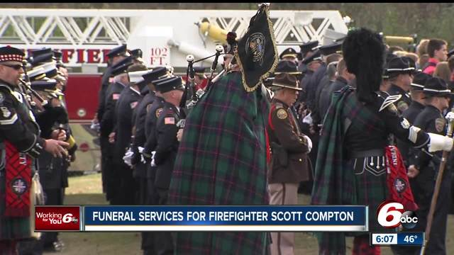 Funeral services held for firefighter killed in the line of duty