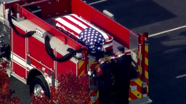 Funeral procession for fallen Greenfield firefighter Scott Compton
