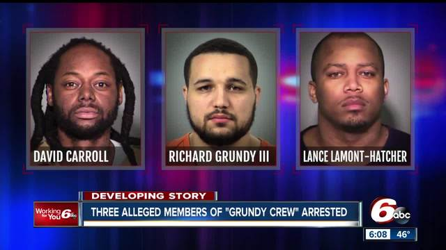 Three alleged members of the Grundy Crew arrested