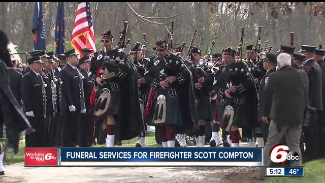 Hundreds gather to honor a firefighter killed in the line of duty
