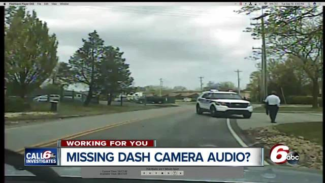 Audio missing on dash cam video from 2 of 3 officers who responded to…