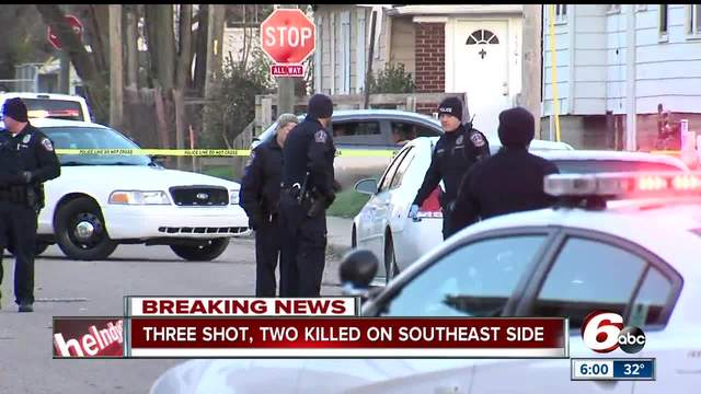 Two men killed in triple shooting on Indianapolis- southeast side