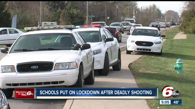 Two schools put on lockdown after deadly shooting on Indianapolis- east side