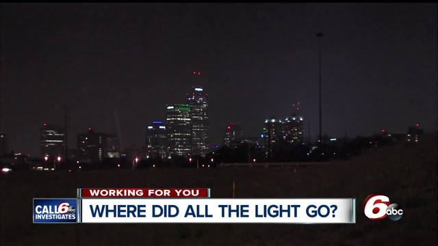 Several lights on Indianapolis- interstates aren-t working