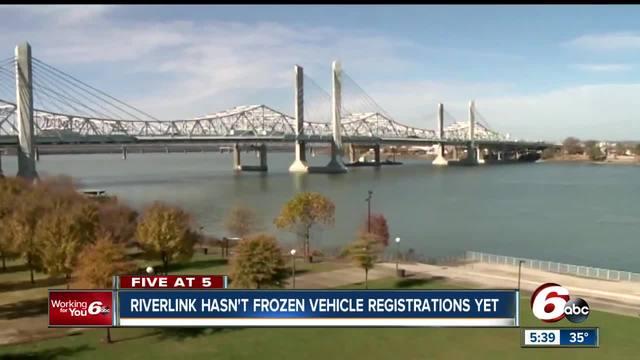 Vehicle registrations haven-t been frozen yet for unpaid tolls