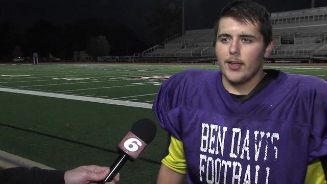Tommy Macdonald- Football player and 5-1 GPA at Ben Davis High School